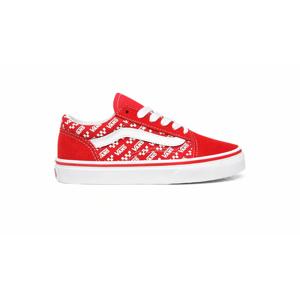 Vans Uy Old Skool (Logo Repeat) Kids červené VN0A4BUUW35 - vyskúšajte osobne v obchode