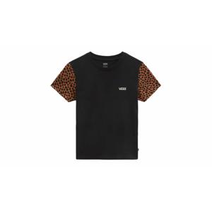 Vans Wild Colorblock T-shirt-M čierne VN0A5L65Z45-M